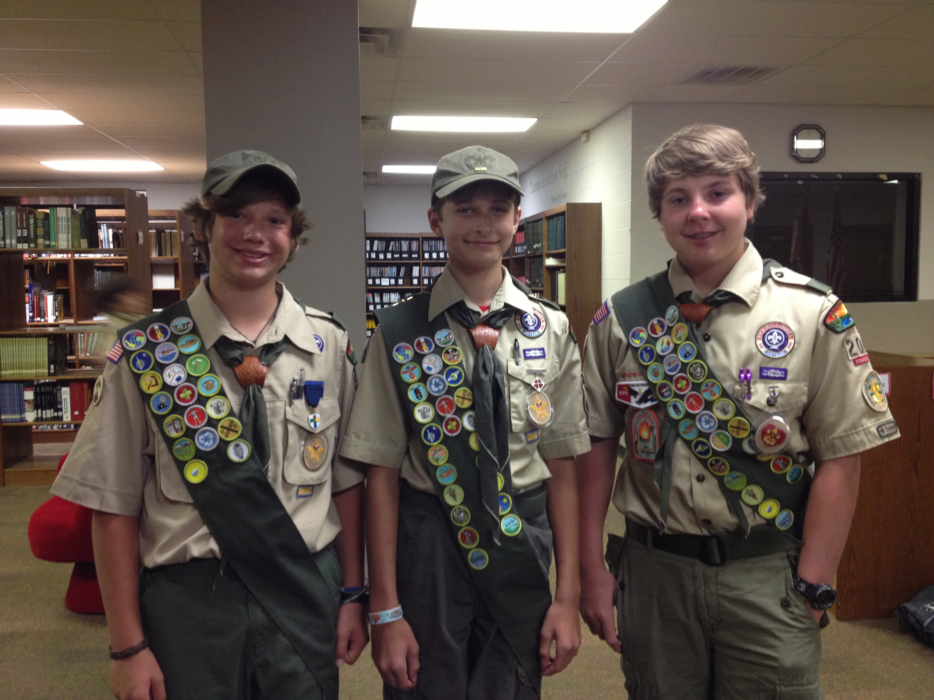 Life scouts from troop 206 active during summer fcs commanders blog